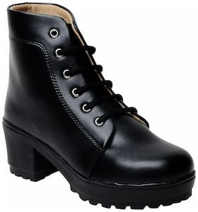 Maysun Women Black Ankle length Boots