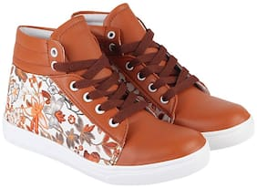Maysun Women Tan Sneakers