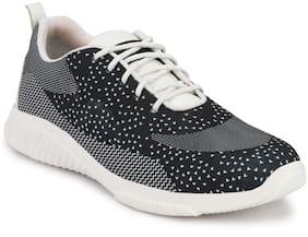 Men Black Dotted Sport Shoe