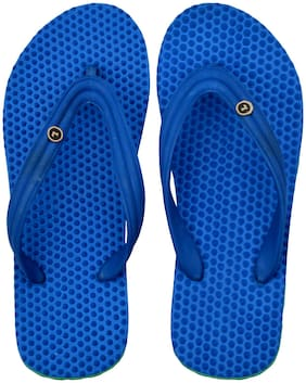 Men Blue Green Health Special Slippers & Flip Flops