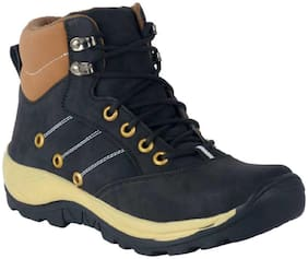 OMIKA Men's Black Outdoor & Ankle Boots