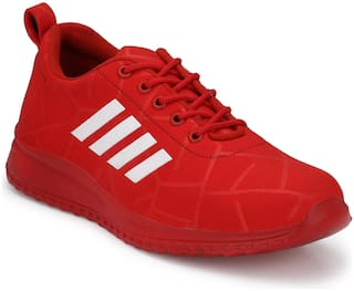 Men Red Striped Casual Shoes