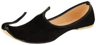 Men's Black color Velvet Jutti