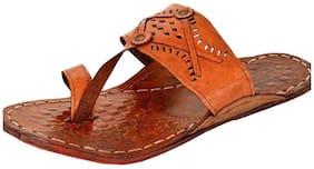 Men's Brown Leather Kolhapuri chappal