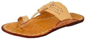 Men's Off-White shaded Leather Kolhapuri chappal
