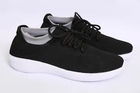 SPOTLIVE Men Walking Shoes ( Black )