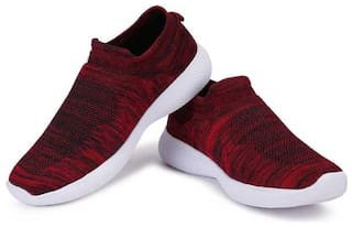 SPOTLIVE Unisex Running Shoes ( Red )
