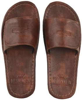 DRUNKEN Mens Open Toe Cherry Synthetic leather outdoor slippers Size UK/Ind - 6