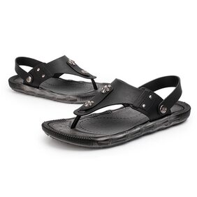 Mens Sandals Phantom | Athletic Flip Flops for Men with Contoured Footbed | Waterproof