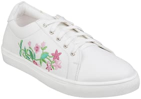 METRO Women White Sneakers