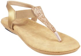 METRO Women Gold Sandals