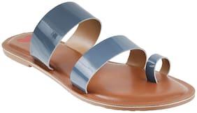 Metro Women Blue Slippers