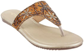Metro Women Bronze Slippers