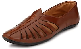 MGZ Men Brown Ethnic