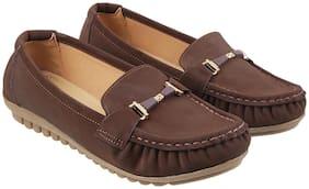 Mochi Women Brown Loafers