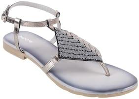 Mochi Women Grey Sandals