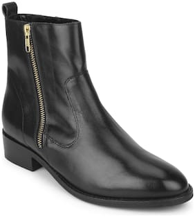 Mode by Red Tape Women Black Ankle length Boots
