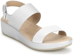 Mode by Red Tape Women Silver Sandals