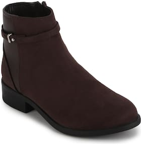 Mode by Red Tape Women Brown Ankle Length Boots