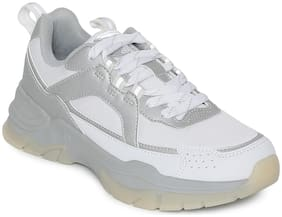 Women Solid Sneakers ( White )