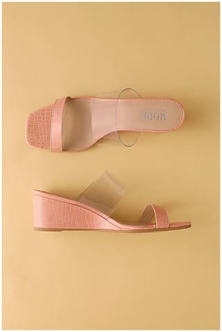 Mode by Red Tape Women Nude Wedges