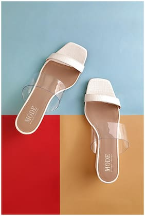 Mode by Red Tape Women White Wedges