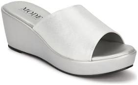 Mode by Red Tape Women Silver Wedges