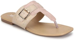 Mode by Red Tape Women Pink T-Strap Flats