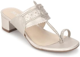 Mode by Red Tape Women White Heeled Sandals