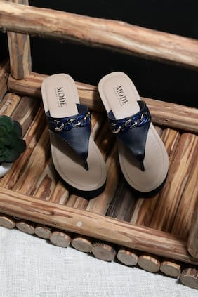 Mode by Red Tape Women Navy Blue Wedges