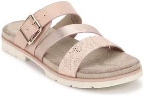 Mode by Red Tape Women Pink Open Toe Flats