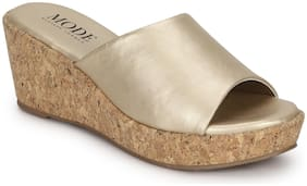 Mode by Red Tape Women Gold Wedges
