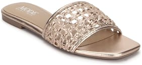 Mode by Red Tape Women Rose Gold Open Toe Flats