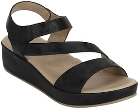 Mode by Red Tape Women Black Wedges