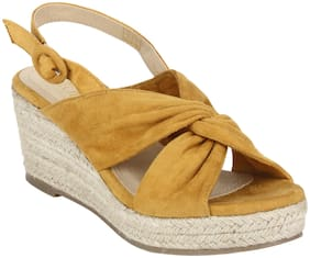 Mode by Red Tape Women Synthetic Slip on - Uk 4 , Yellow