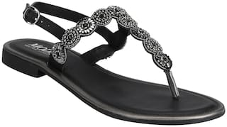 Mode by Red Tape Women Black Sandals