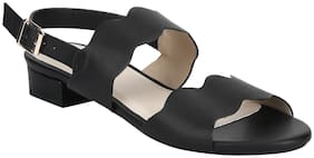 Mode by Red Tape Women Black Heeled Sandals