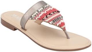 Mode by Red Tape Women Multi-Color One Toe Flats