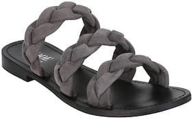 Mode by Red Tape Women Grey Slippers