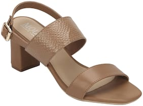 Mode by Red Tape Women Tan Heeled Sandals