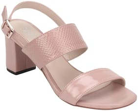 Mode by Red Tape Women Pink Heeled Sandals