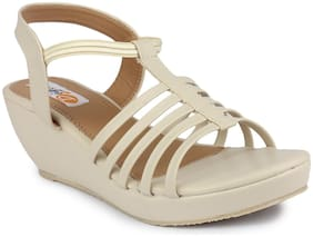 MONAQI Women Cream Sandals