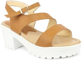MONAQI Women Beige Sandals