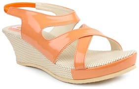 MONAQI Women Orange Sandals