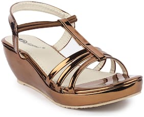 MONAQI Women Copper Sandals