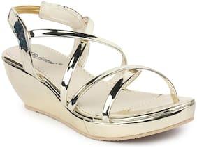 MONAQI Women Gold Sandals