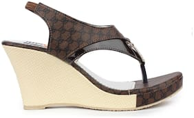 MONAQI Women Brown Sandals