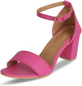MONAQI Women Pink Sandals