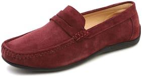 MONKS & KNIGHTS Men Red Loafers - MKSUHSRW