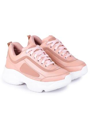 Moonwalk Women Pink Sneakers